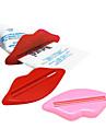 labios exprimidor de pasta de dientes en forma de