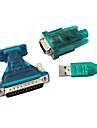 USB 2.0 para 9/25 pino seriral RS232 cabo adaptador db9/db25