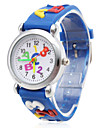 Children's Letters Pattern Blue Silicone Band A B C Quartz Analog Wrist Watch Cool Watches Unique Watches Fashion Watch