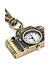 Retro Camera of Unisex Alloy Analog Quartz Keychain Watch (Bronze)