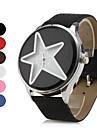 Women\'s Star Style PU Leather Analog Quartz Wrist Watch (Assorted Colors)
