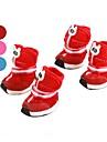 All Seasons - Red / כחול / ורוד פליס פולאר - גרביים ומגפיים - כלבים