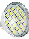 1W GU5.3(MR16) LED-spotlights MR16 27 SMD 5050 300 lm Naturlig vit V