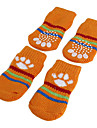 Dog Socks / Shoes & Boots Cute / Keep Warm Winter / Spring/Fall Solid Orange / Green / Blue / Pink Cotton