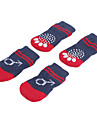 Dog Socks Casual/Daily Keep Warm Winter Spring/Fall Stripe Blue Cotton
