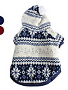 PethingTM Christmas Eve Comfort Warm Hoodie Coat for Dogs (XS-XL,Blue,Red)