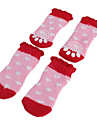 Socks & Boots for Dogs Pink Spring/Fall Cotton