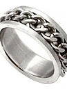 titanio anel de aco correntes de metal unisex