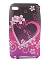 Heart Flower Pattern TPU Case for iPod Touch 4 (Multi-Color)