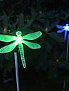 Солнечная Изменение цвета Dragonfly стиль сада долю света