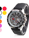 Charming Unisex Rubber Analog Quartz Wrist Watch (Assorted Colors)