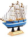 10x10cm Holz Segelboot Tischdekoration (Random Style)