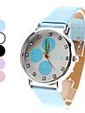 Women's Circle Style PU Analog Quartz Wrist Watch (Assorted Colors)