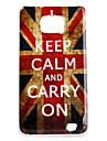 Carcasa Dura Envejecida de la Bandera Britanica para el Samsung Galaxy S2 i9100