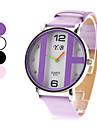 여성의 새로운 PU 아날로그 석영 손목 시계 (여러 색)
