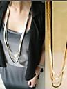 Ожерелье Ожерелья-цепочки / Заявление ожерелья Бижутерия Сплав Для вечеринок Золотой 1шт Подарок