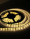 Waterproof 5M 300x3528 SMD Warm White Light LED Strip Lamp with AC Adapter Set (100-240V)