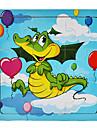 귀여운 캐릭터 목조 지그 퍼즐 교육 장난감 (9 개, 임의의 스타일)