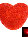 Sweet Heart Shaped Red Light Crystal LED Night Lamp (3xLR44)