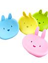귀여운 만화 토끼 비누 상자