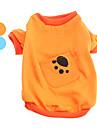 Perros Camiseta Naranja / Azul Ropa para Perro Primavera/Otono Animal
