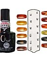 UV Color Opal Builder Gel Nail Polish No.1-12 Suit with Opal Bar Magnet(10ml,1PCS,Assorted Colors)