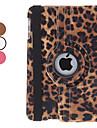 draaibare luipaard pu lederen case w / stand voor iPad mini 3, ipad mini 2, ipad mini