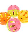 Colorida pelota de plastico de Bell precioso para mascotas (4 piezas)