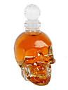kristallen schedel hoofd 125ml wijn wodka glazen fles karaf