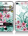 Elegant Flower Pattern Front and Back Full Body Stickers for iPhone 5