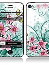 Элегантная передняя цветочным узором и обратно всего тела Наклейки для iPhone 5