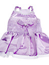 Dog Dress Purple Spring/Fall Sequins Wedding