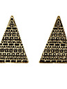 Vintage Antiguo Patron Pendientes triangulares