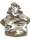 Dog Hoodie Green Pink Dog Clothes Winter Spring/Fall Camouflage Fashion Casual/Daily
