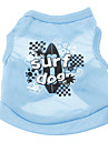 Dog Shirt / T-Shirt Blue Dog Clothes Summer Letter & Number Holiday Casual/Daily