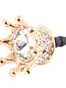 Chapada Zircon Royal Crown padrão plug Anti-pó Gold (Ouro)