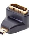 90 graus para a esquerda HDMI para micro HDMI f / m adaptador para v1.3/v1.4