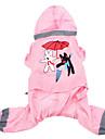Dog Rain Coat - XS / S / M / L / XL - Summer - Pink / Yellow - Waterproof / Cosplay - Terylene