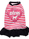 Dog Dress Dog Clothes Letter & Number Hearts Blushing Pink