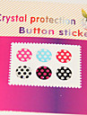 Joyland Dot Pattern Button-Sticker for iPhone/iPad/iTouch (6 Pack)