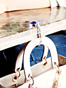 colorido dobravel de cristal bolsa bolsa cabide gancho (1 peca de cor aleatoria)