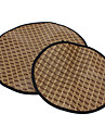 Super Cool Circle Woven Pet Summer Sleeping Mat for Dogs (S-L)