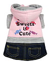 Cute Candies Printing Pattern Jeans Style Dress for Dogs (XS-XL)