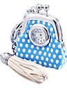 Frauen-und Maedchen-PU-Quarz Analog-Uhr mit Keychain Bag Pattern (Multi-Color)