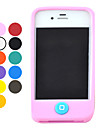 아이폰 4/4S (분류 된 색깔)를위한 사탕 색깔 실리카 젤 절반 가득 차있는 보호 케이스
