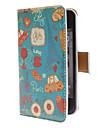Leuke Dagelijks gebruik patroon pu Full Body Case met Card Slot en PC Back Cover inzicht voor de iPhone 4/4S