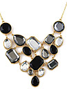 Vintage Zircon Acrylic Hollow-out Bubble Necklace