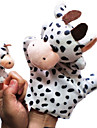 2PCS Parent-child Hand&Finger Puppets Dairy Cattles