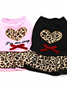 All Seasons Cotton Dresses for Dogs Pink / Black XS / M / S / L