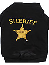 Dog Shirt / T-Shirt Black Dog Clothes Summer Police/Military / Letter & Number